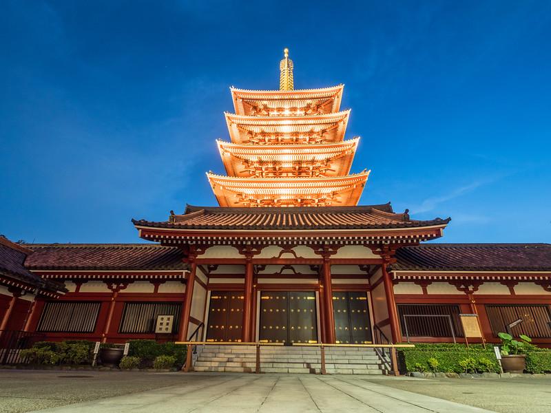 Below the Pagoda at Senso-ji, Tokyo, Japan