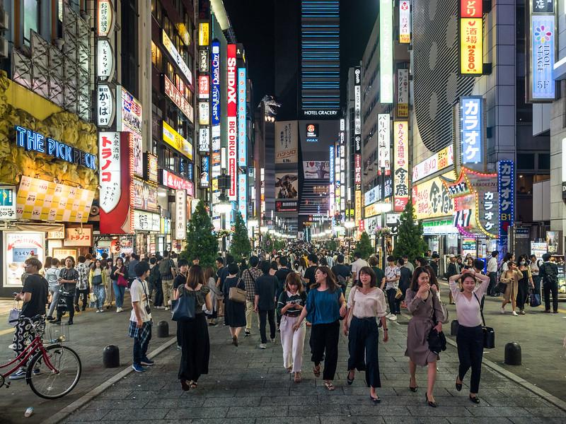 Nightlife in Shinjuku, Tokyo, Japan