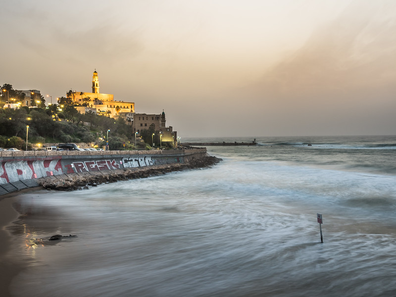 Sunset over Jaffa, Tel Aviv, Israel