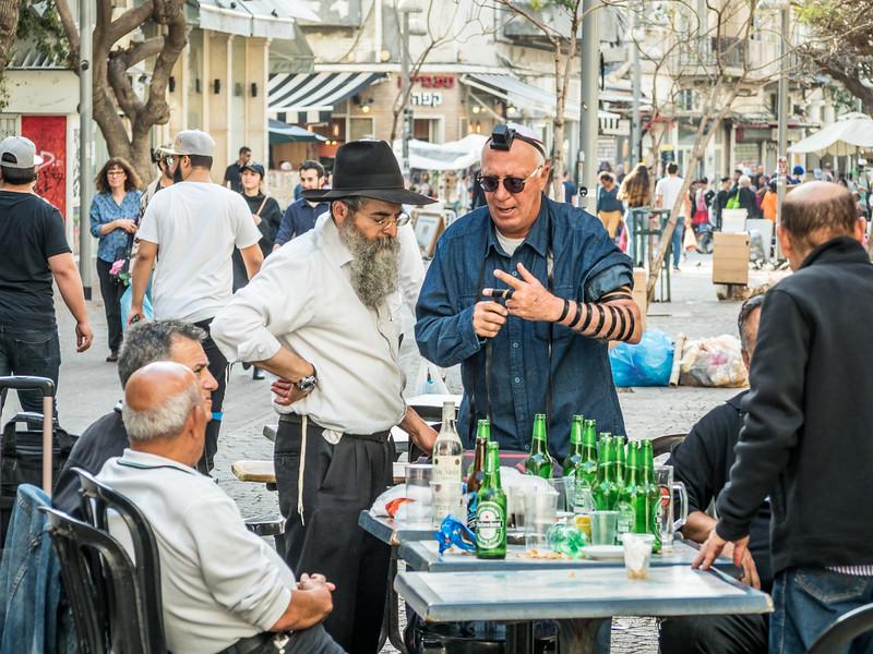 Preparing for Evening Prayers, Tel Aviv, Israel
