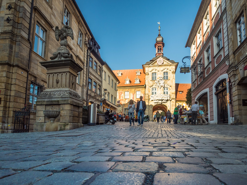 Approaching the Rathaus, Bamberg, Germany