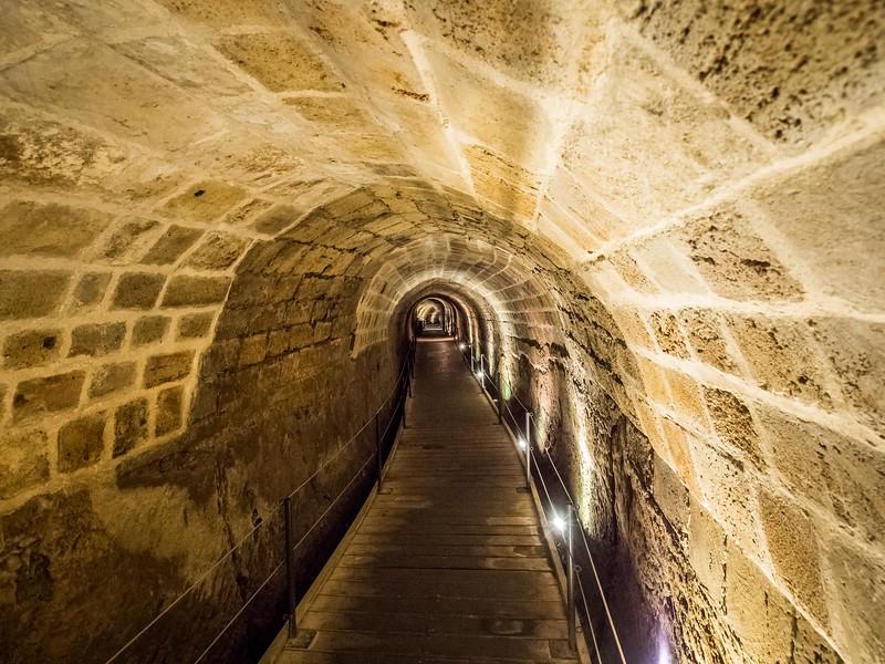 Inside the Templar Tunnels, Akko, Israel
