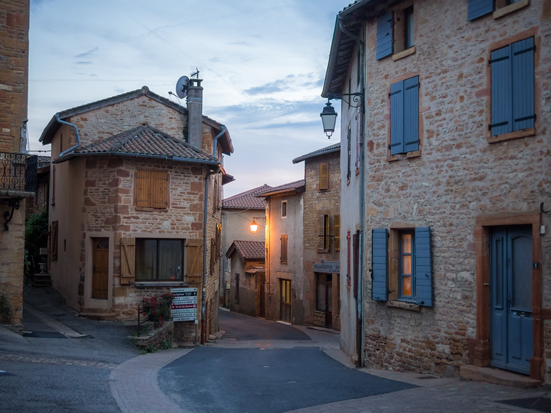 Evening in Charnay, France