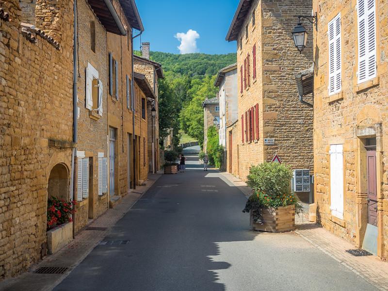 Street Scene in Ville-sur-Jarnioux, France