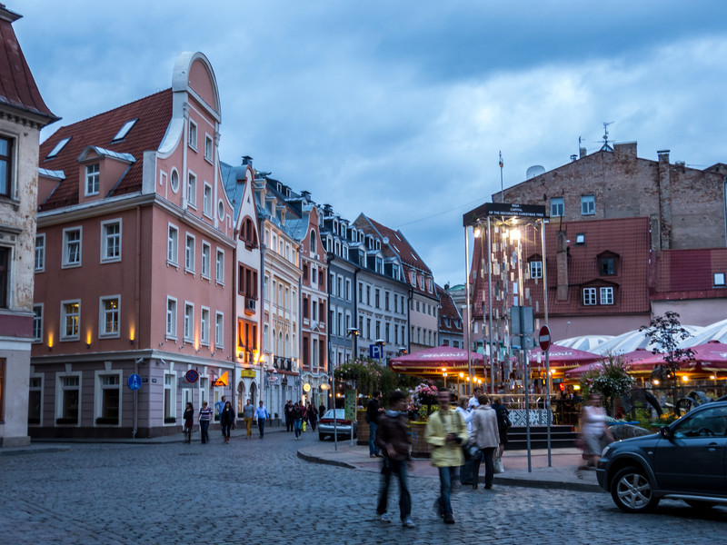 Evening Clouds Over Old Town Square, Riga