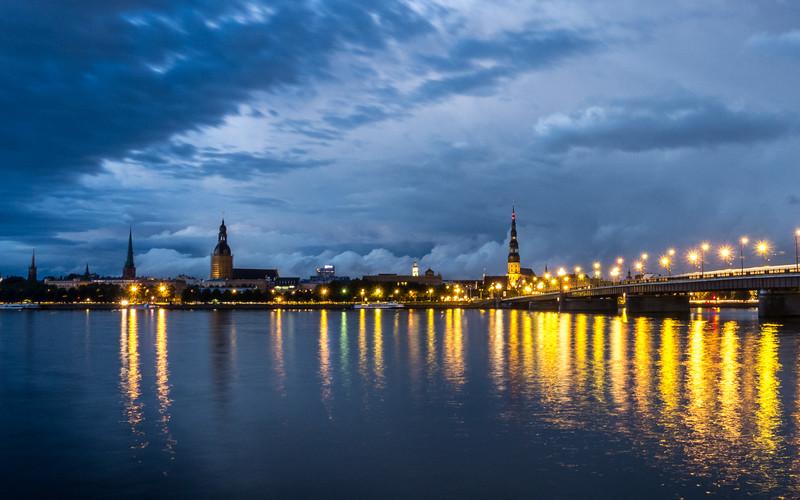 Blue Storm Over Riga, Latvia