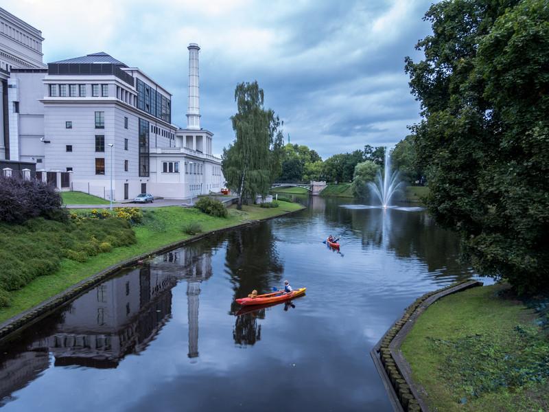 Dark Clouds Over Vērmanes Gardens, Riga