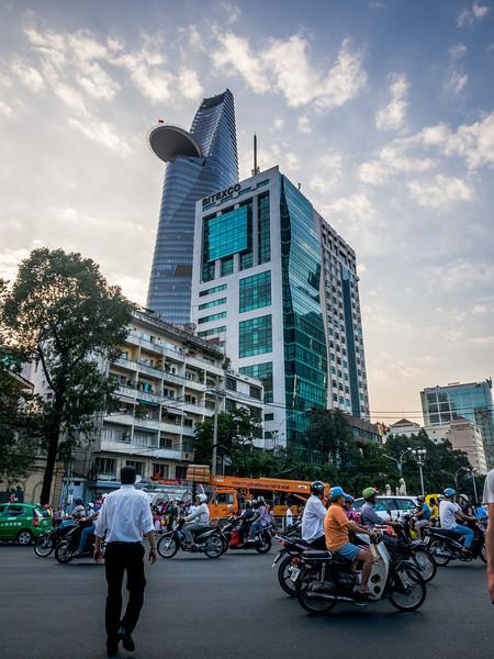 Evening Sky and Scraper, Saigon