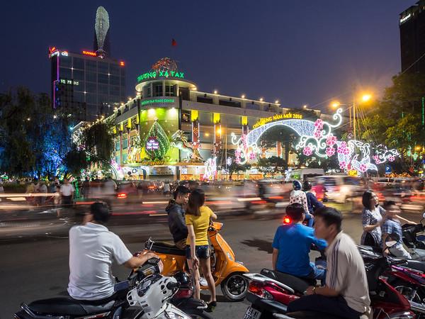 Evening Action, Saigon, Vietnam