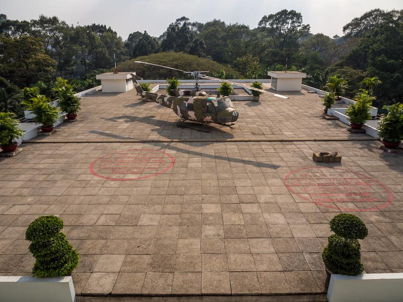 Old Huey, Reunification Palace, Saigon, Vietnam