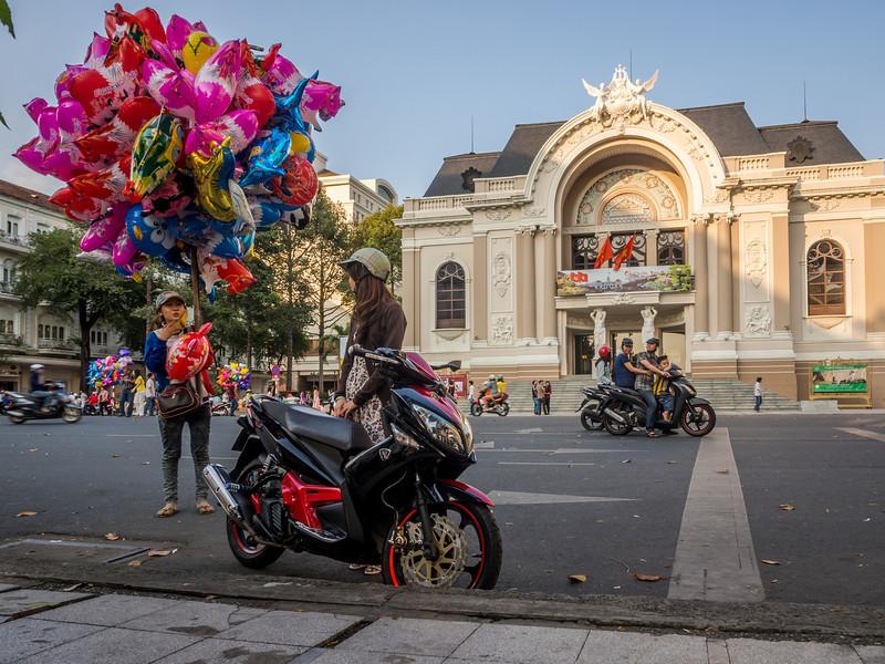 Balloons at the Opera, Saigon, Vietnam