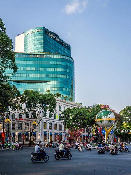 Modern Saigon Street Scene