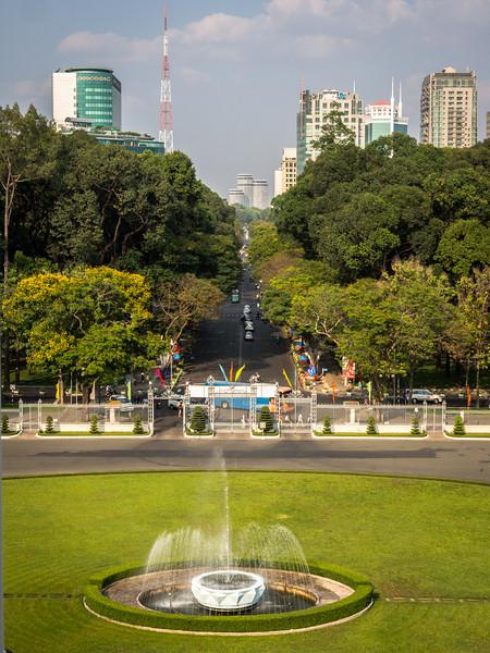 View from Reunification Palace, Saigon