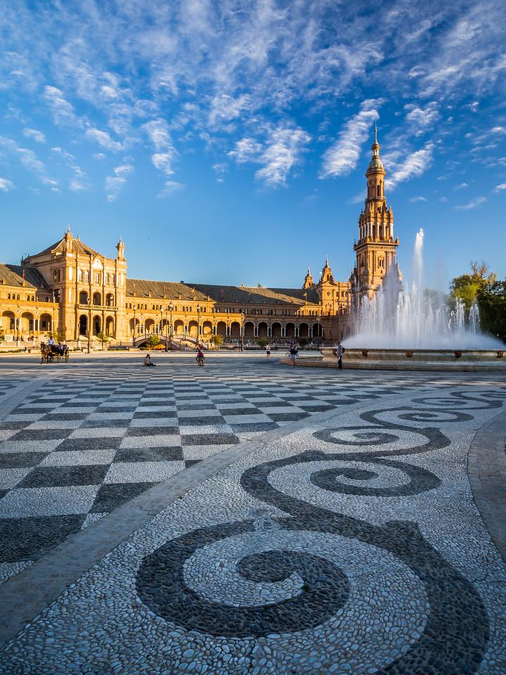 Swirls and Fountains, Plaza de España, Seville