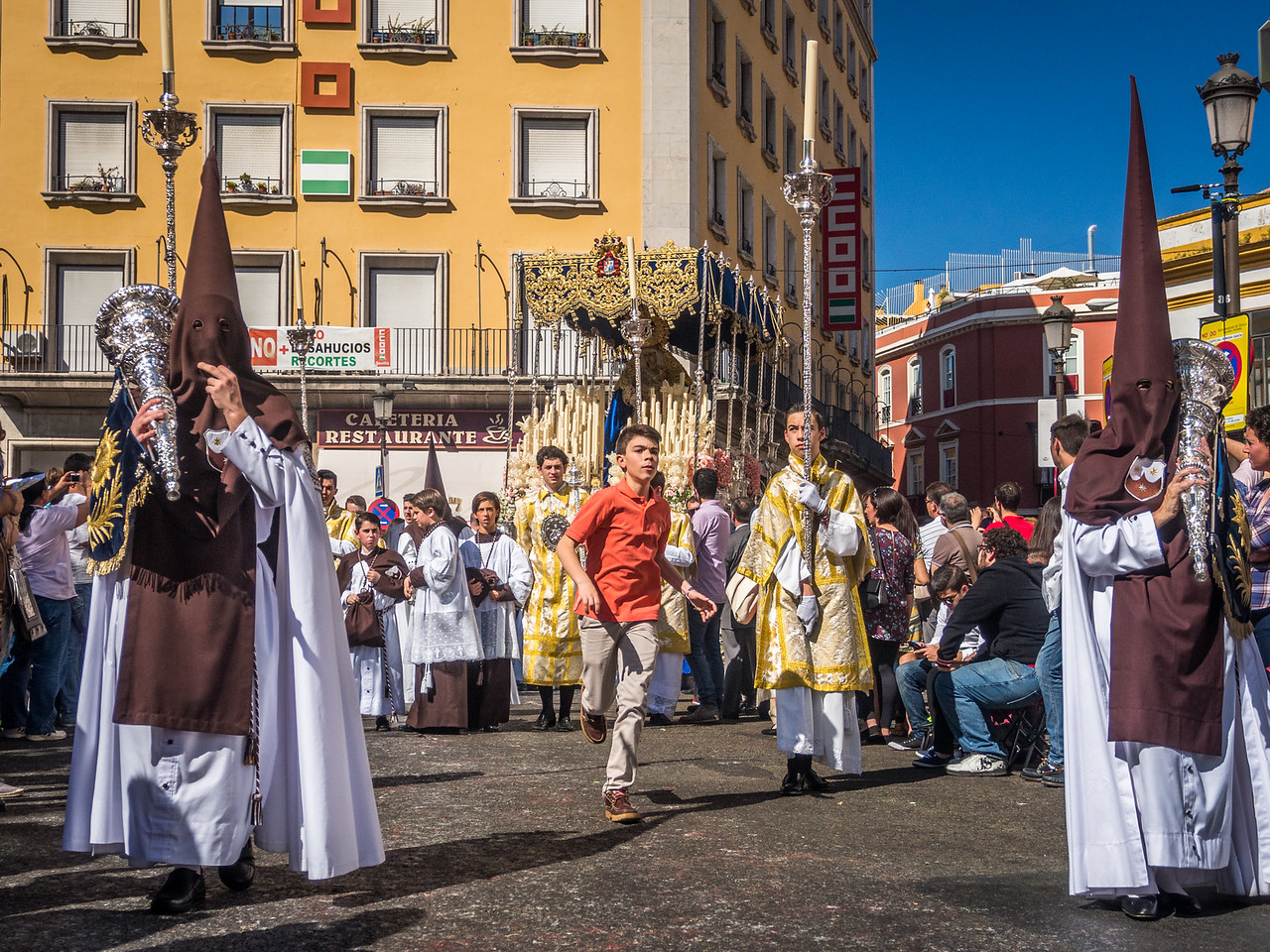 Running Through the Procession, Seville
