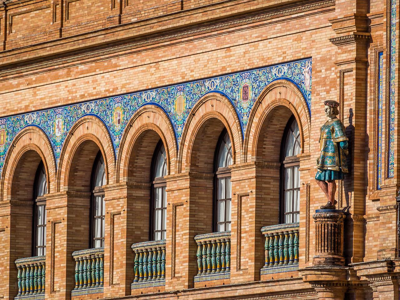 Arched Windows, Plaza de España, Seville, Spain
