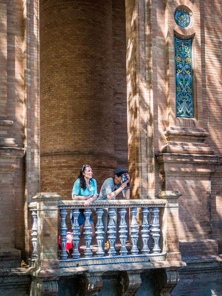 Photographer at the Plaza de España, Seville