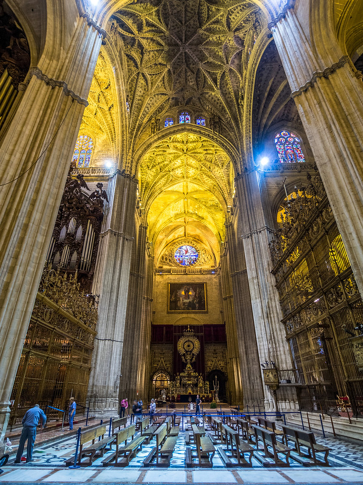 Inside the Seville Cathedral