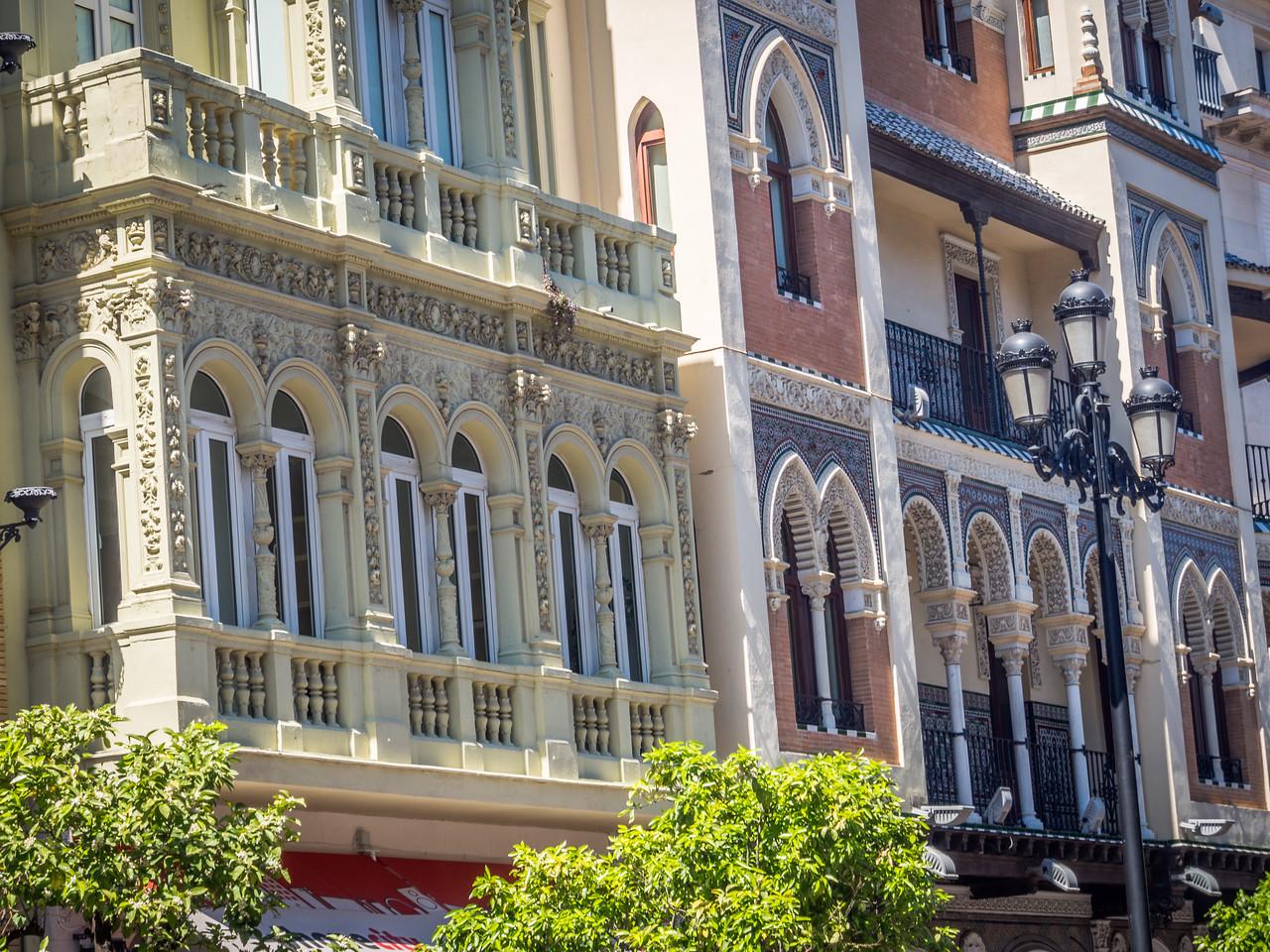 Façades Along Avenide de la Constitucion, Seville