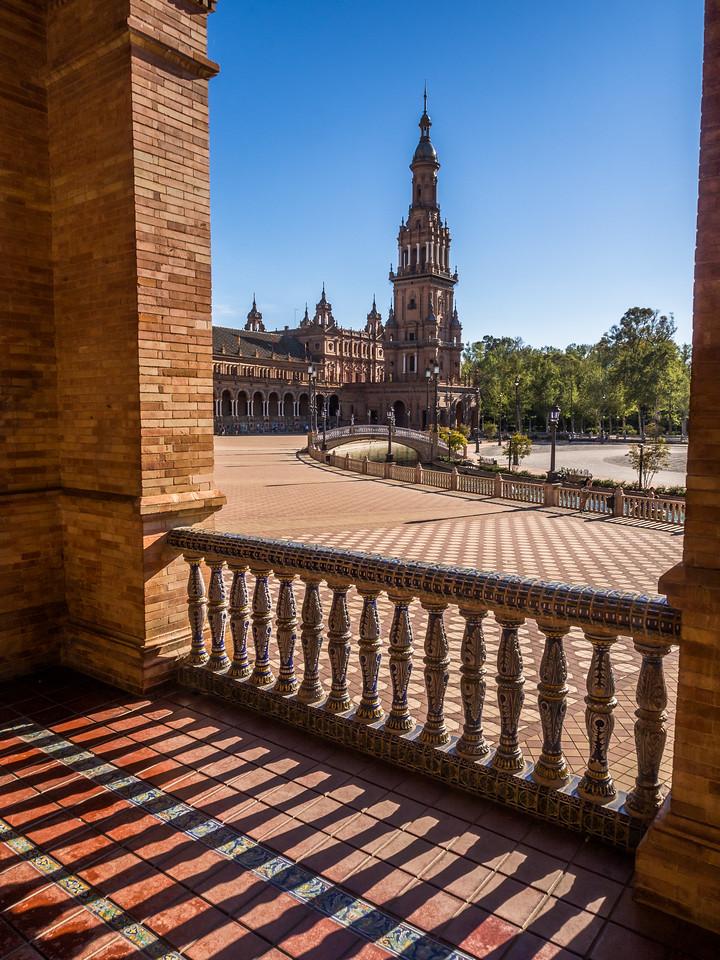 Tower from the Balcony, Plaza de España, Seville