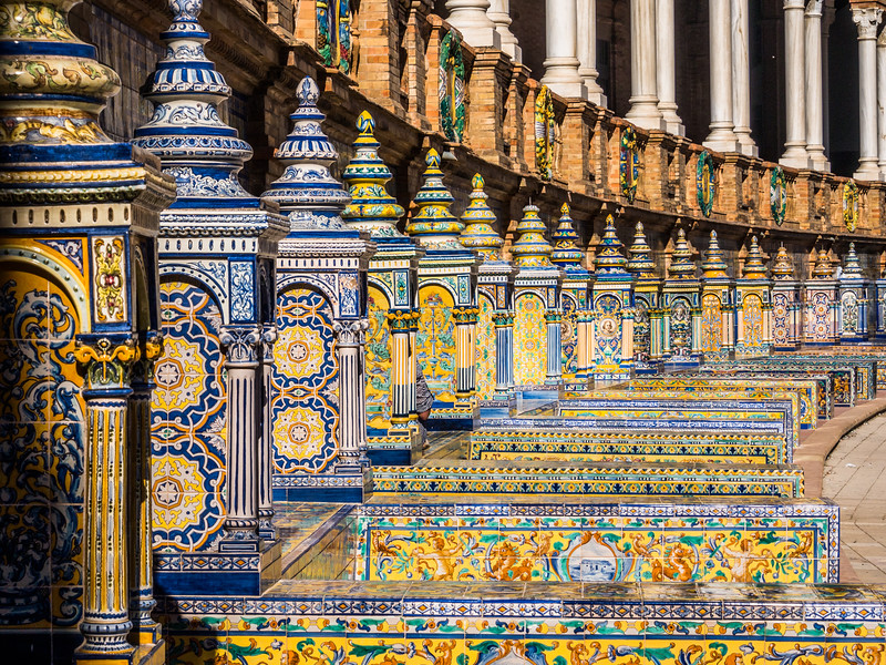 Porcelain Tiled Benches, Plaza de España, Seville, Spain