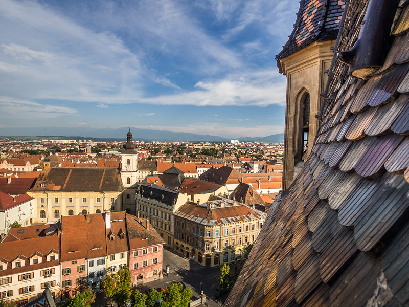View from the Church Tower, Sibiu, Romania