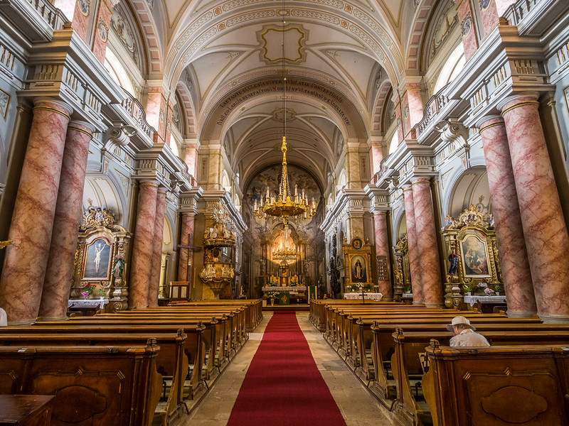 Inside the Roman Catholic Church, Sibiu, Romania