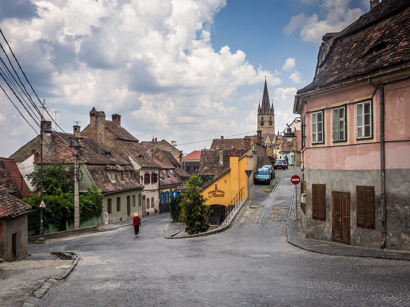 Quiet Sunday Streets, Sibiu, Romania