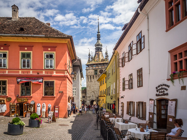 Within the Medieval Old Town, Sighișoara, Romania