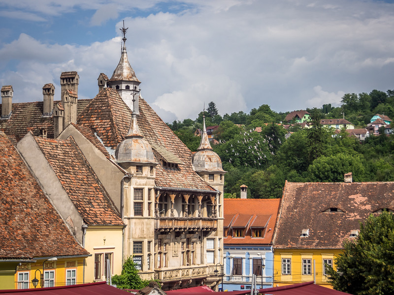 Rooftops of the Lower Town, Sighișoara, Romania