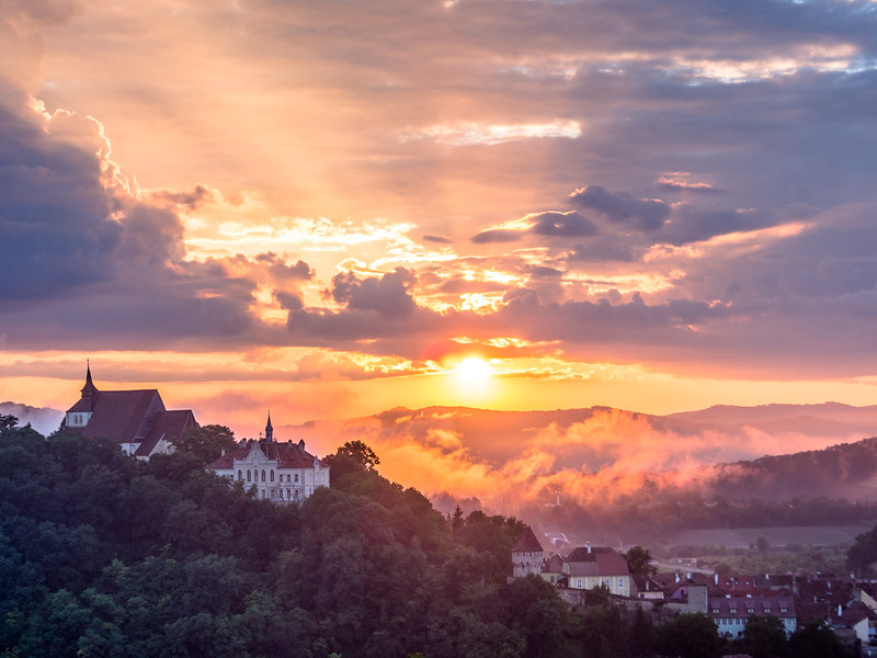 Sunset over the Hills, Sighișoara, Romania