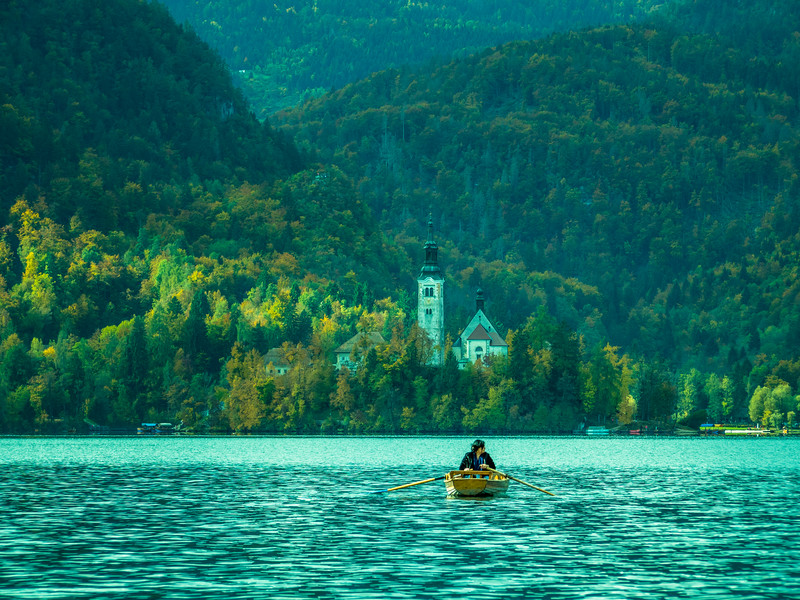 Lonely Boat Ride, Lake Bled, Slovenia