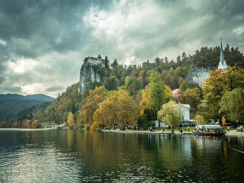 Gray Clouds over Bled Fortress, Slovenia