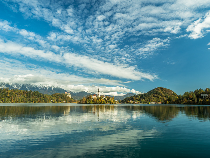 Awesome Clouds over the Lake, Bled, Slovenia
