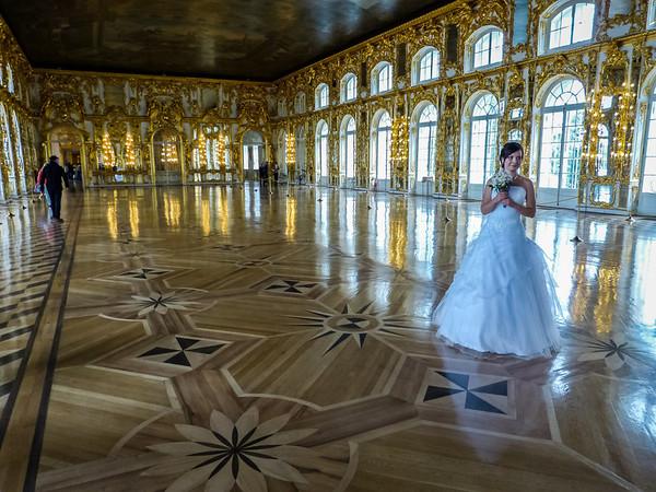 Ballroom Bride, Tsarskoye Selo, Russia