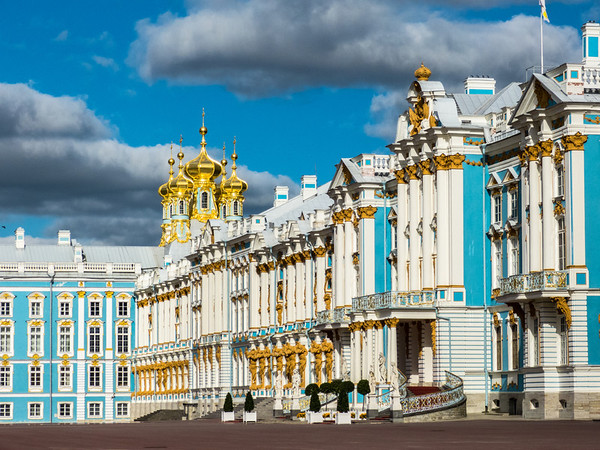 Profile View of Catherine Palace, Tsarskoye Selo