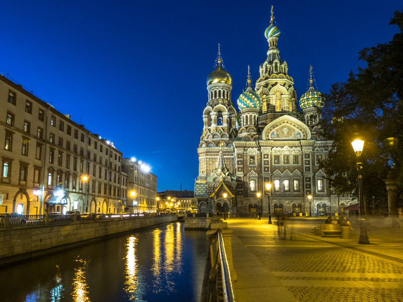 Nightfall on the Church of Our Savior on Spilled Blood, St. Petersburg