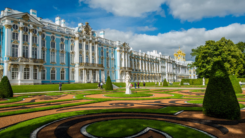 Gardens Outside Catherine's Palace, Tsarskoye Selo