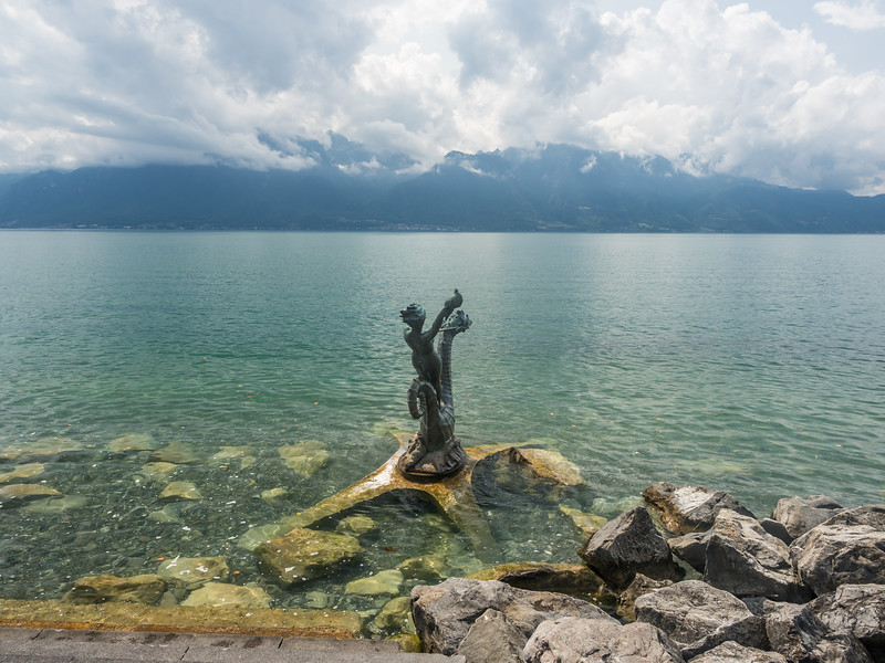 Lakeside Statue, Vevey, Switzerland