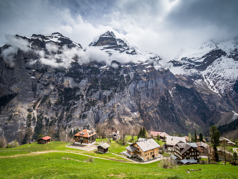 Gimmelwald Village and Above, Switzerland