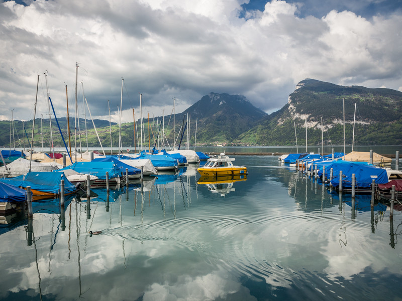 Boats at Thunersee