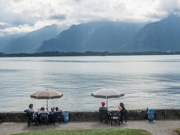 Visitors at Chatillon, Switzerland