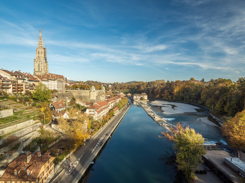 Late Afternoon on the Aare, Bern, Switzerland