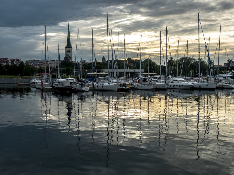 Storm Clouds Over Tallinn Harbor
