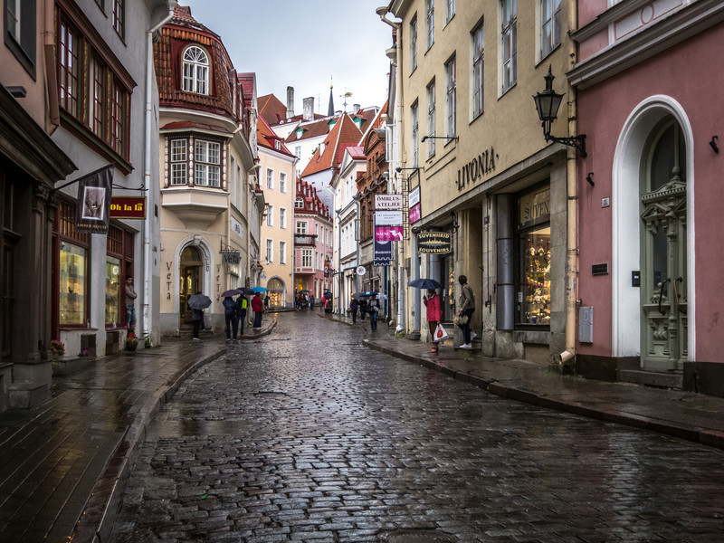 Rainy Street, Tallinn