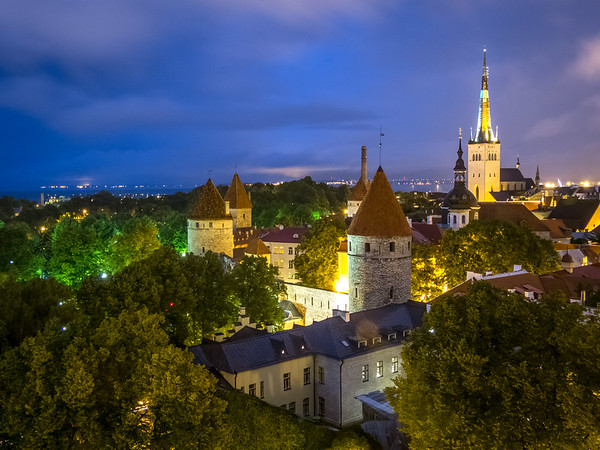 Evening View from Toompea, Tallinn, Estonia