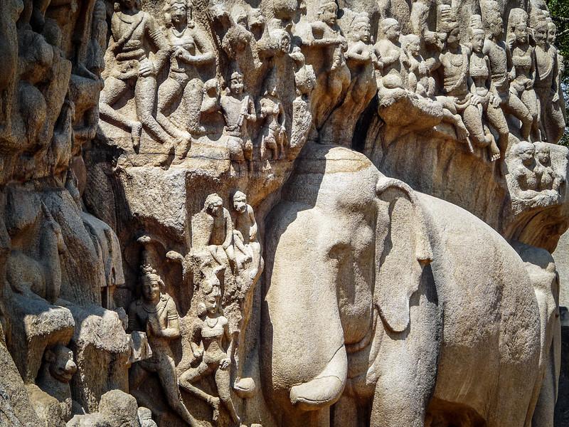 Fine Rock Carvings, Mamallapuram, India