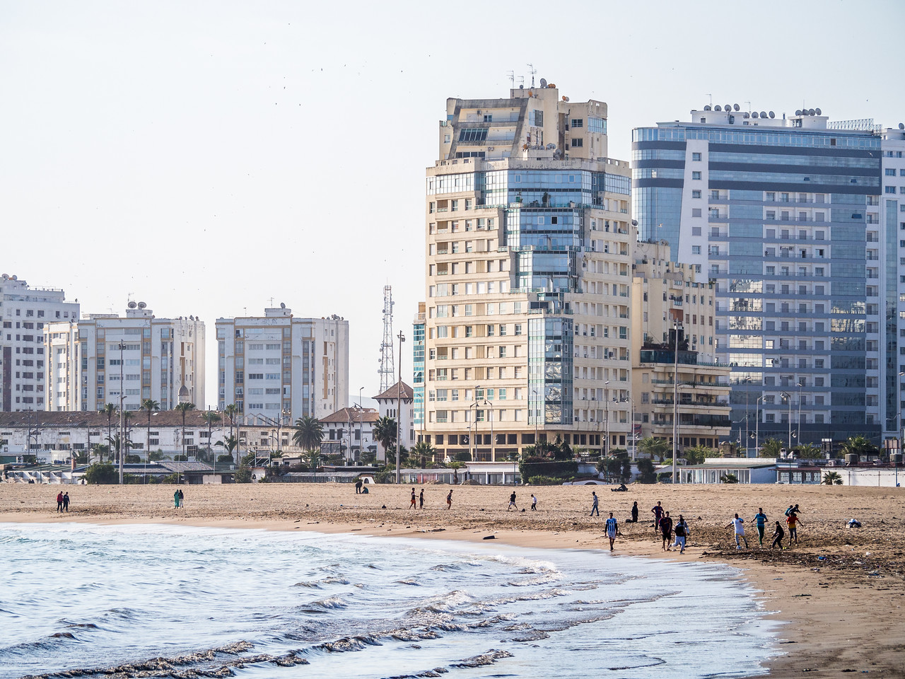 Modern Buildings on the Beach, Tangiers