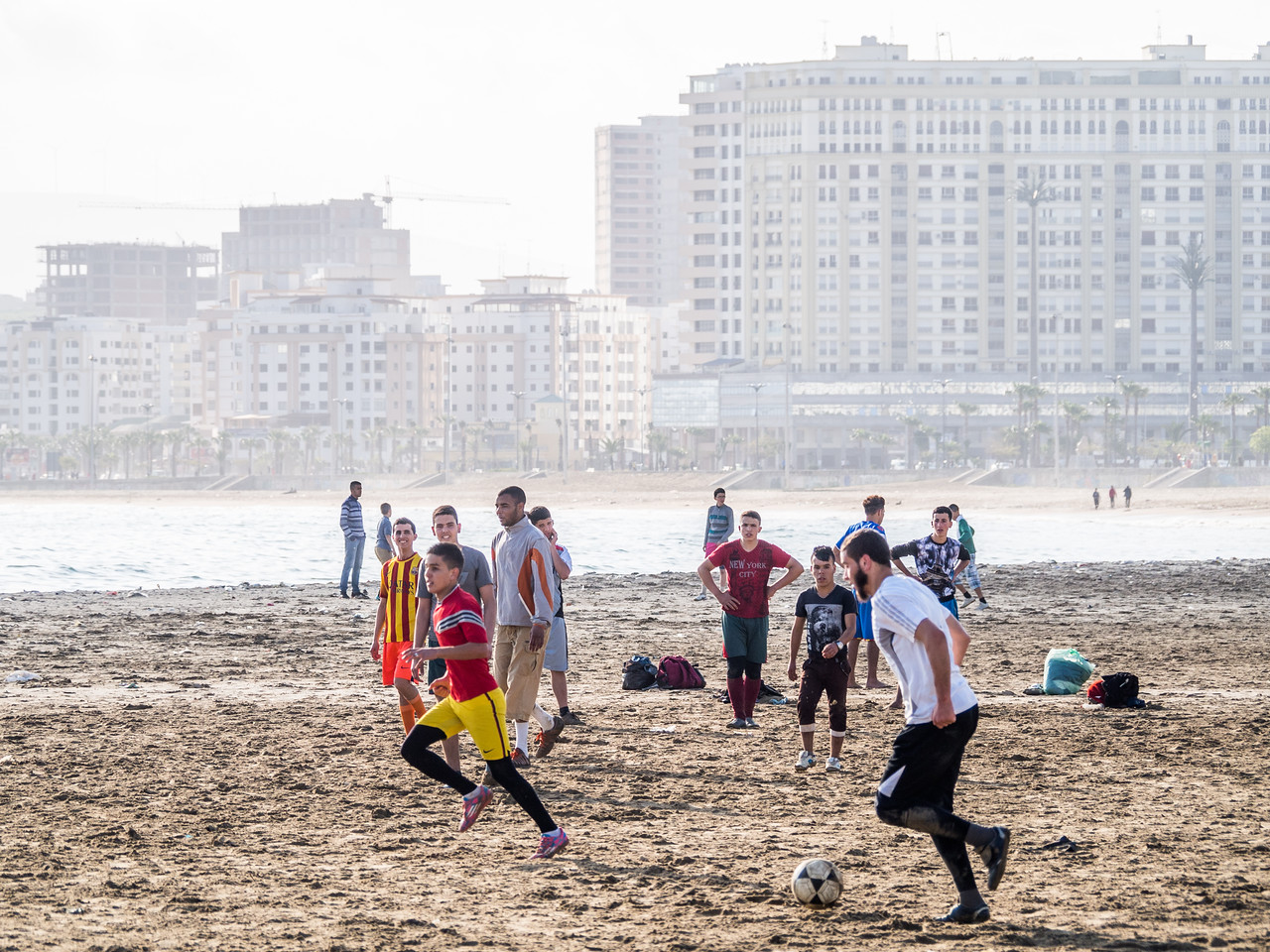 Morning Game on the Beach, Tangiers