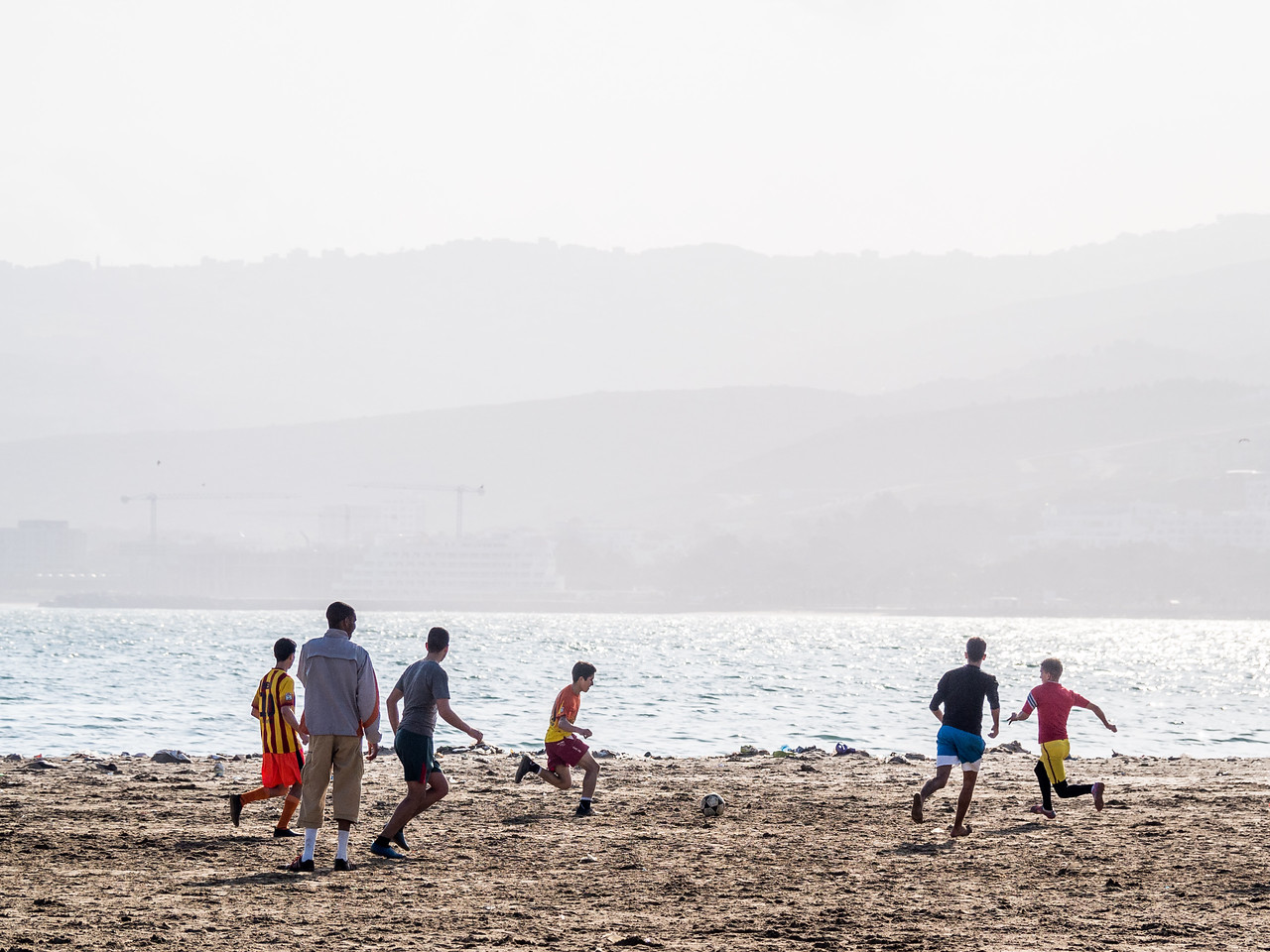 Football on the Beach, Tangiers, Morocco
